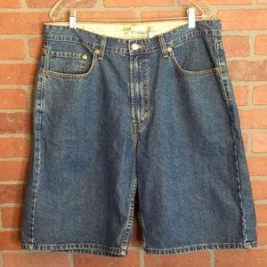 Levis 569 Mens Jeans shorts denim loose straight